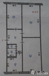 продам 3-х комнатную квартиру,  ул. Жамбыла,  д.75 за 50000