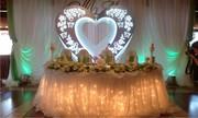 Сердце для свадьбы и юбилея,  прокат,  декорация,  фотозона