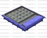 Металлоформы заборов (с вибраторами и прогревом - водяные регистры)